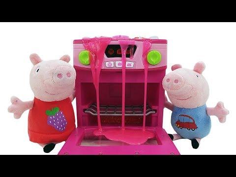 Игрушки для детей. Свинка Пеппа и Джордж — мягкие игрушки. Свинки дома без родителей. Готовим вместе