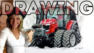 ✍ Massey Ferguson 8737 speed drawing