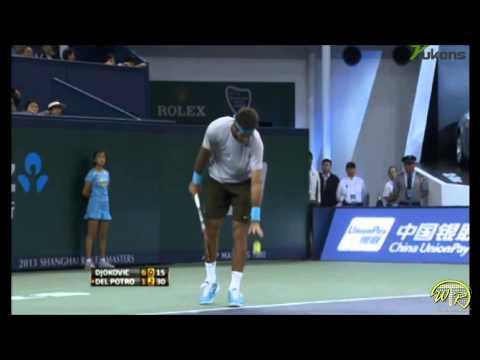 Djokovic vs Del Potro Shanghai Final, 2nd set