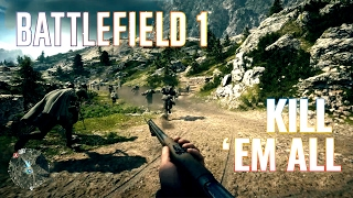 Battlefield 1 -= PAINTING WITH MY KNIFE =-