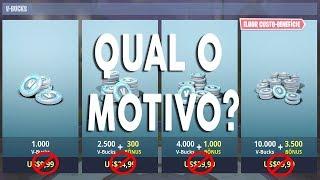 POR QUE O PREÇO DOS VBUCKS SUBIRAM NO XBOX? - FORTNITE