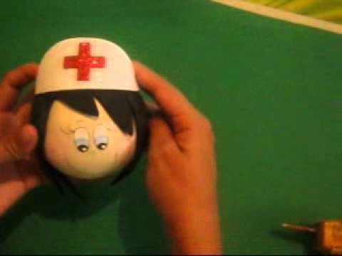 Como se hace una toca o gorro de enfermeras fofucha en - Como se hace una vidriera ...