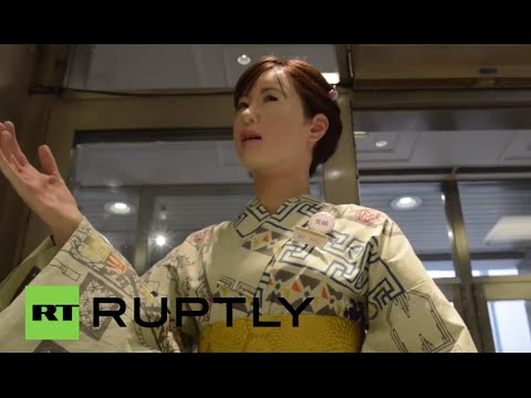 Japan: Humanoid robot receptionist debuts at Tokyo department store