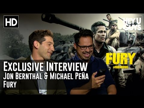 Jon Bernthal & Michael Pena Interview - Fury