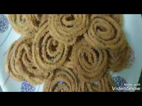 Crispy  crispy Murukulu or Jantikalu in telugu