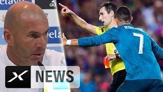 "Zinedine Zidane zu Cristiano Ronaldos Sperre: ""Einfach falsch!"" | Real Madrid - FC Barcelona"