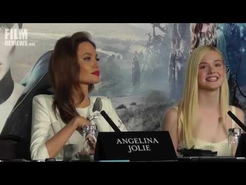 Maleficent UK Press Conference - Angelina Jolie & Elle Fanning