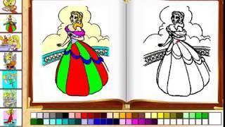 Kids 247 - Nhạc thiếu nhi cho bé, bé tập tô màu, hướng dẫn cách tô màu công chúa, nhân vật hoạt hình