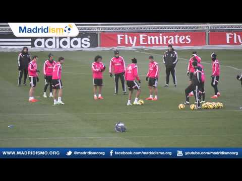 Real Madrid Training ahead of Sevilla