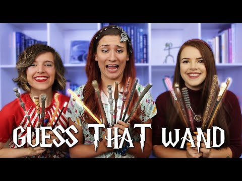 Blind Harry Potter WAND Challenge! ft. Cherry Wallis and Tessa Netting