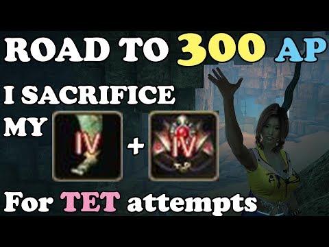 BDO - Road To 300 AP Part 45: I Sacrifice My TET Urugon & TET Crescent for TET Accessories attempts