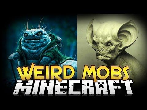 Minecraft Mods WEIRD MOBS MOD Creepy Mobs Armor and More Minecraft Mod Showcase