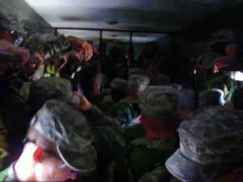 Army cattle trucks - YouTube