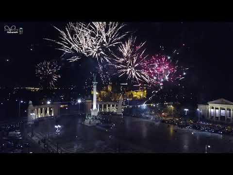 Happy New Year 2020 Hősök tere Tűzijáték