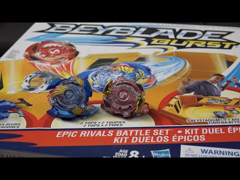 Hasbro BEYBLADE BURST Epic Rivals Battle Set Unboxing & Review! Valtryek & Spryzen