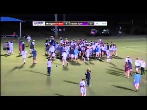 Luke Strebel of Father Ryan gw goal on 54 yd free kick in TSSAA DII-AA Championship