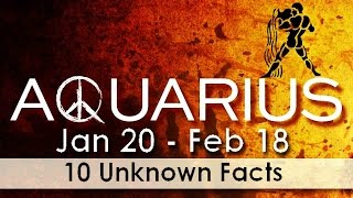 10 Unknown Facts about Aquarius | Jan 20 - Feb 18 | Horoscope | Do you know ?