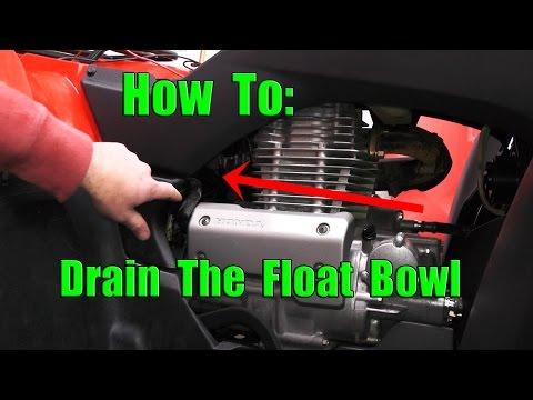 Honda Rancher 350: How to drain Float Bowl: Water In Carburetor Fix