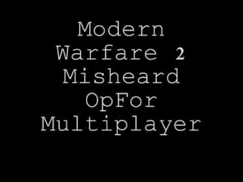 Modern Warfare 2 Misheard Opfor Multiplayer Sayings/Quotes Video