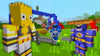 Bart Simpson Joins The Power Rangers | The Simpsons | Minecraft Xbox [55]