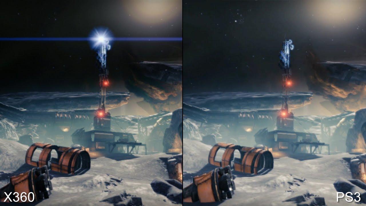 Destiny beta xbox 360 vs ps3 vs ps4 comparison youtube