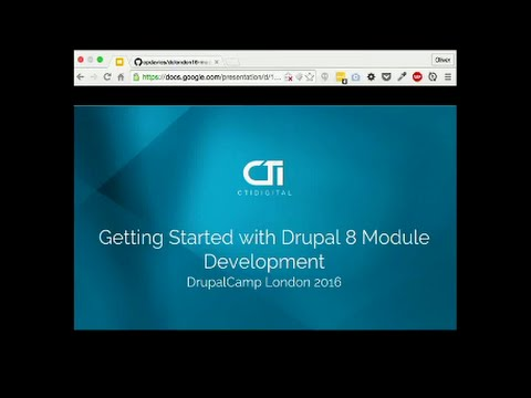 Drupalcamp London 2016 - Getting Started with Drupal 8 Module Development
