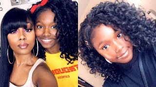 Only $10 😱  FUNNY  MAMA DAUGHTER HAIR REVIEW || Zury One Pack is Enough V8910 Weave GOGO Curl