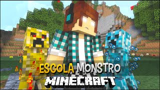 Minecraft Escola Monstro #10 - Creepers Diferentes !!  Monster School
