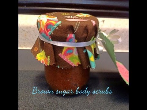 Brown Sugar Body Scrubs w/virgin cold pressed coconut oil  | Baby shower on a budget mini series