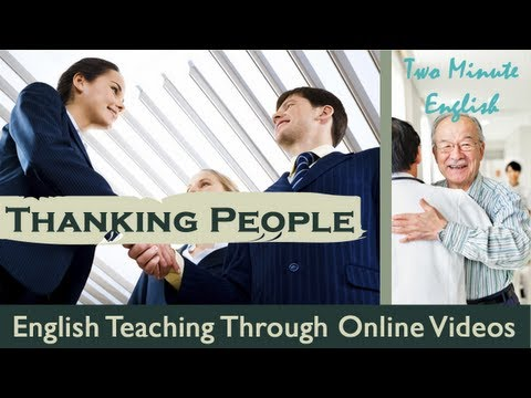 Thanking People - Free English Conversation Lesson video