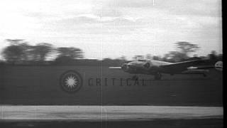 Aircraft piloted by Dick Merrill and companion Jack Lambie avoids accident during...HD Stock Footage