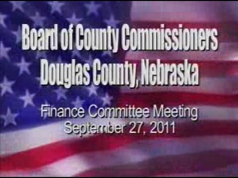 Board of County Commissioners, Douglas County Nebraska, September 27, 2011 Meeting