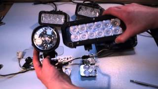 Светодиодные фары ProLight Xmitter vs Hella FF70 LongRange