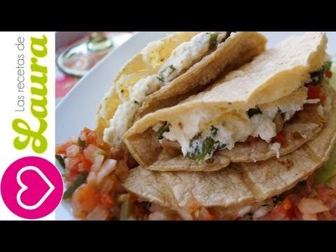Tacos Dorados de Rajas con Requesón ♥ Recetas saludables