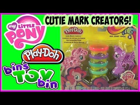 My Little Pony Play-doh Cutie Mark Creators Twilight Sparkle Pinkie Pie Set! By Bin's Toy Bin video