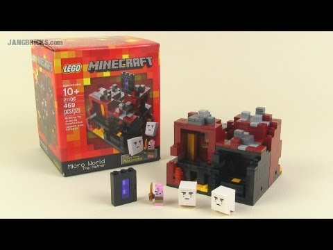 LEGO Minecraft 21106 The Nether micro world set Review!