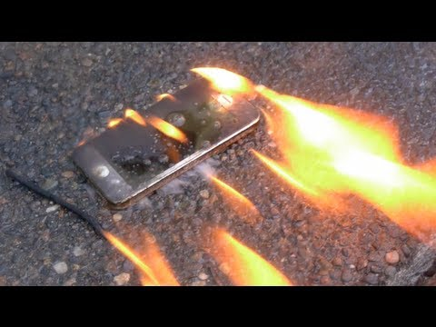 Burning a New iPhone 5 with Gasoline - Will it Survive?