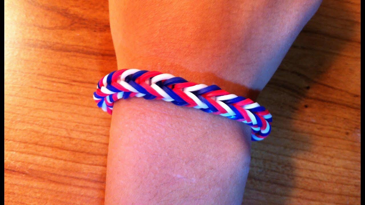 How to make a fishtail rainbow loom bracelet  YouTube