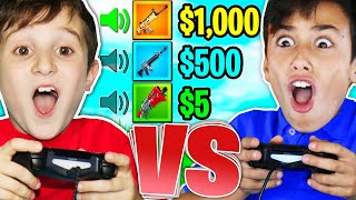 FIRST TO GUESS GUN SOUND WINS $1000!!! - 9YR OLD vs 12YR OLD 1V1 Fortnite Challenge