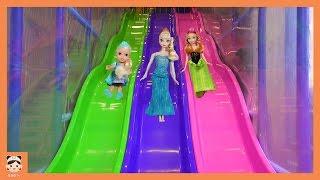 뽀로로 유치원 어린이 놀이터 어린이집 장난감 인형 놀이 ! 겨울왕국 엘사 키즈카페 테마파크 미끄럼틀 Fun Indoor Playground for Kids  보라미TV Borami