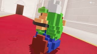 3D 8-Bit Luigi in Super Mario Odyssey - Final Boss & Ending