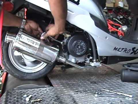 N-MP-02072-2 QMB 139 4 stroke Chinese 50cc GY6 MRP exhaust