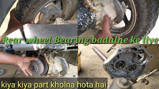 Part 1 Hero maestro rear wheel bearing problem solve and open
