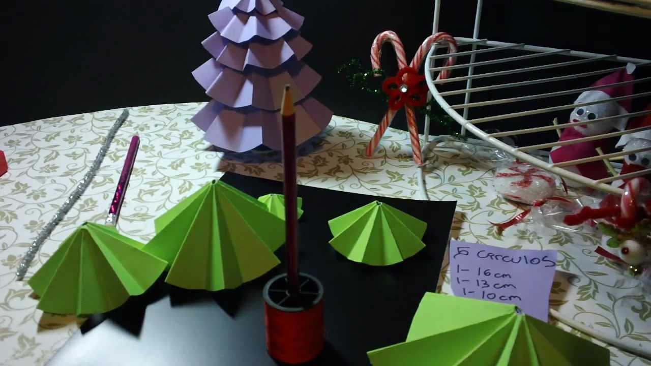 Pino de navidad de papel adorno regalo recuerdo youtube - Adornos de navidad con papel ...