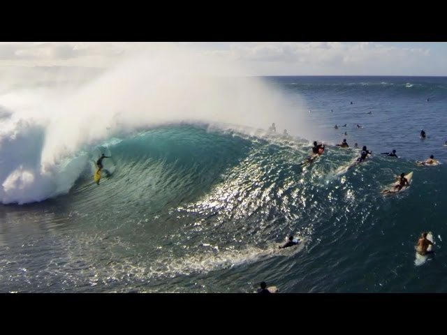 Kohl Christensen GoPro Angle at Pipeline