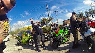 Bikers try to get away from cops...Then this happens | Bikers vs Cops