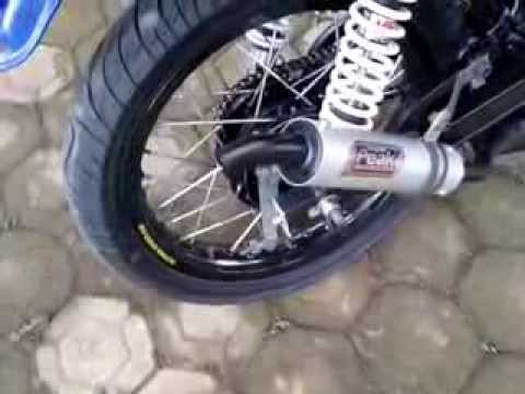 knalpot kdx exhaust rx king videolike