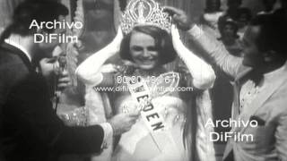 DiFilm - Margareta Arvidsson wins competition Miss Universe 1966
