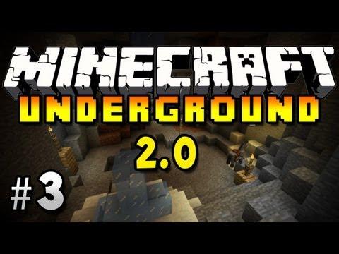 Minecraft Underground Survival 2.0: Ep.3 - SOMEONE BROKE IN!