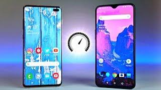Samsung Galaxy S10 Plus vs OnePlus 6T - Speed Test!